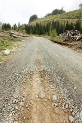 A gravel road.