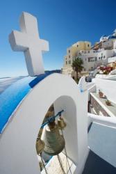 A Greek cross on top of a church.
