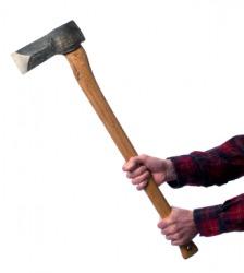 A man holding an ax.
