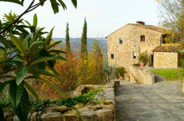 A B & B, bed and breakfast, in Tuscany.