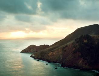 Marin headlands at sunset.