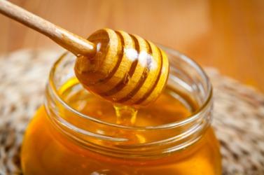 A pot of honey.