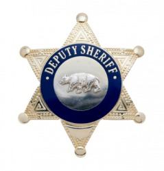 The badge of a Deputy Sheriff.