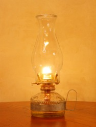 One style of hurricane lamp.