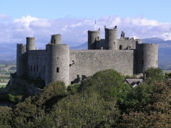 The bailey of Harlech Castle.