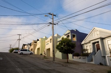 An inclined street in San Francisco.