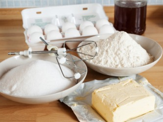 The ingredients for baking.