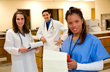 A group of medical interns.