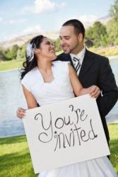 A couple invite us to their wedding.