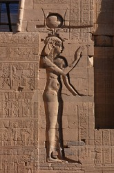 The Egyptian goddess Isis.