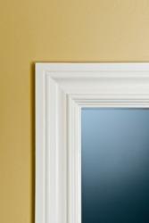 A white door jamb.