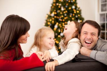 A joyous family.
