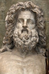 The Roman god Jupiter.