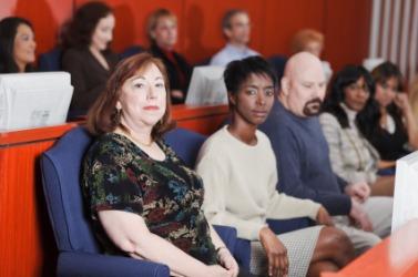 A seated jury.