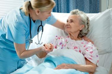This nurse is being kind.