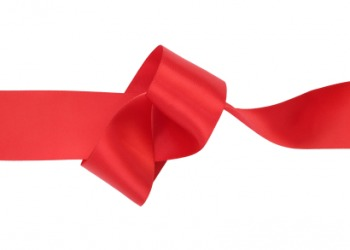 A kink in a ribbon.