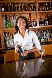 An outgoing bartender.