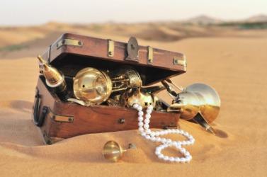 A chest of pirate treasure.