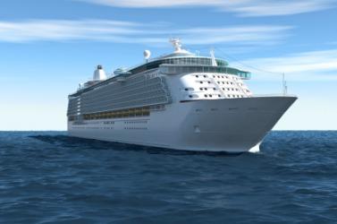 A large cruise ship.