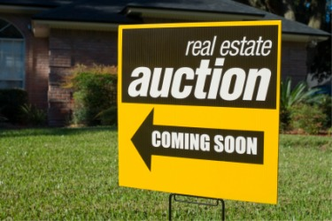 A house about to be sold at auction.