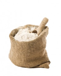 Flour is a basic ingredient for making bread.
