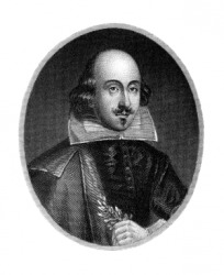 An engraving of the Bard of Avon, William Shakespeare.