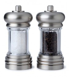 Salt and pepper shakers are a couple.