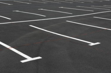 An empty parking space.