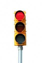This red traffic light is a signal to stop.
