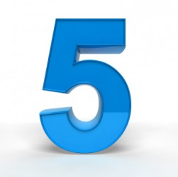 Five is a number.