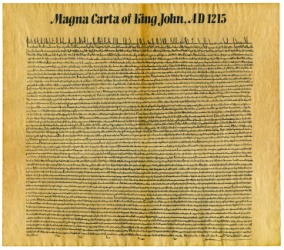 A replica of the Magna Carta.