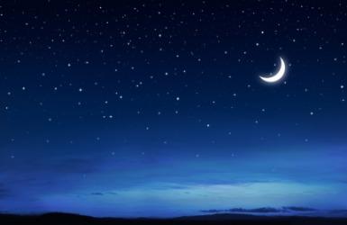The starry night sky.
