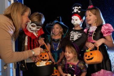 Children observing Halloween.