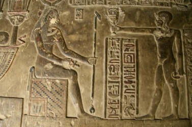 A bas-relief inside a crypt in Egypt.