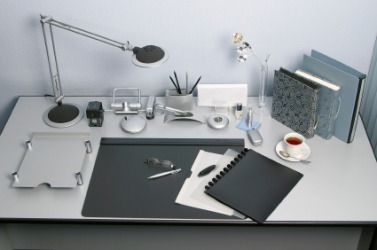An orderly desk.
