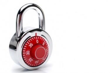 A red padlock.