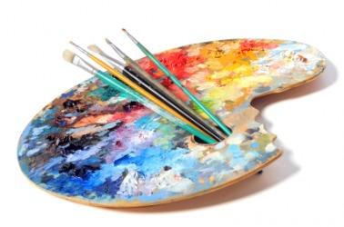 An artists palette.