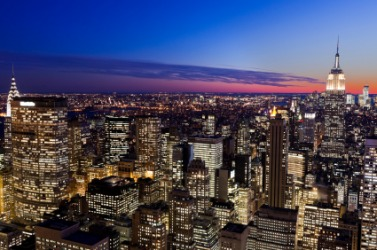 A panorama of New York City.