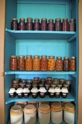 An old-fashioned kitchen pantry.