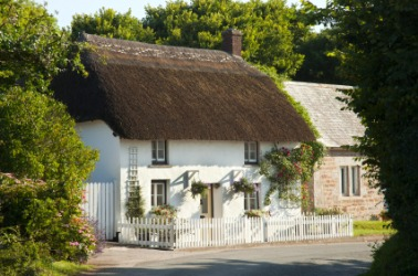 A quaint English cottage.