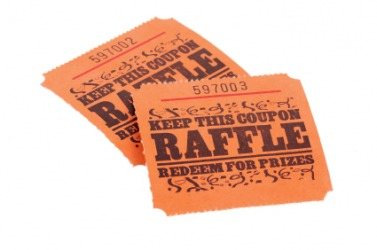 A pair of raffle tickets.