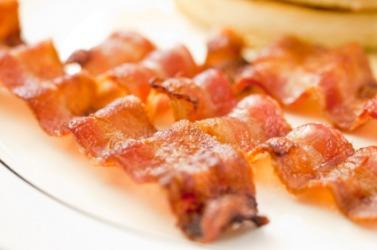 A rasher of bacon.