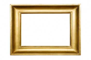 This picture frame is a rectangle.