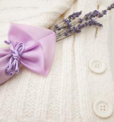 A lavender sachet.