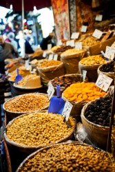 Dried food for sale at a bazaar.
