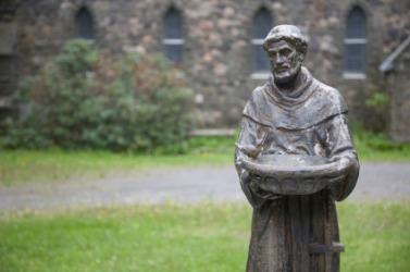 Saint Francis is an example of a saint.