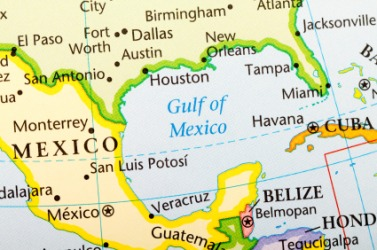 The Gulf of Mexico is an example of a gulf.