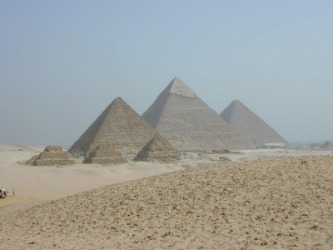 The pyramids at Giza are a tangible example of history.