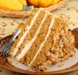 A tasty  homemade cake.