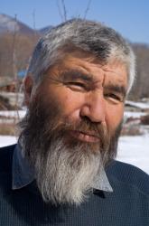 A man with a beard.